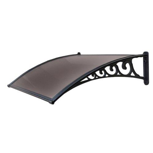 821-50 Vordach/ Überdachung, Modulbauweise, Polycarbonat-Platte, 100x80cm, schwarz/...