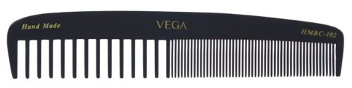Vega Extra Wide and Fine Teeth Graduated Dressing Comb, Black  available at amazon for Rs.82