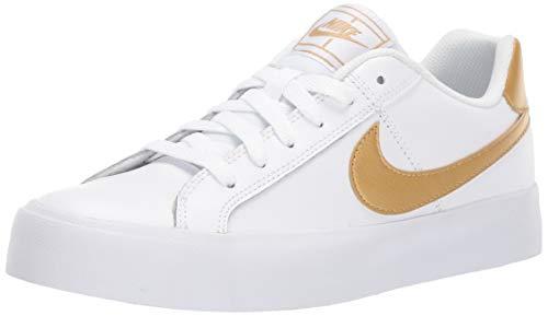 Nike Damen WMNS Court Royale AC Tennisschuhe, Weiß (White/MTLC Gold 109), 38.5 EU