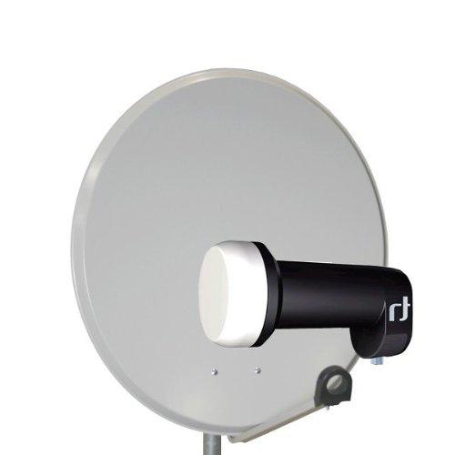 Antenne 60cm PremiumX PXA60 Sat Schüssel aus ALU FullHD HDTV Satelliten Spiegel 60 cm Hellgrau + LNB Single 0.2 dB Inverto Black Ultra High-Gain SAT LNB 72 dB FULLHD 3D HD+ Digital Tauglich