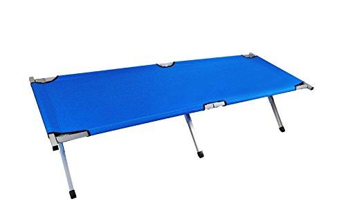 Metall Feldbett 190cm 3 Farben Klappbett Bett Klappbar Faltbett Campingbett #797, Farbe:Blau