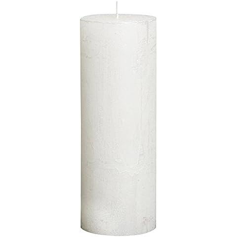 Bolsius - Vela cilíndrica de parafina, metálico, tamaño 19 cm, color blanco