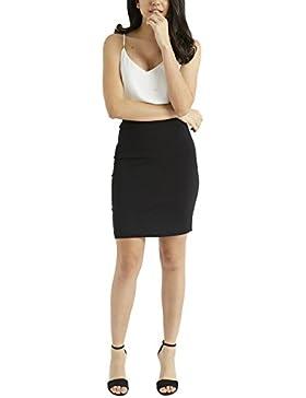 Lipsy Mujer Minifalda ajustada Negro 44