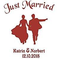 Autoaufkleber Hochzeit - tanzendes Brautpaar