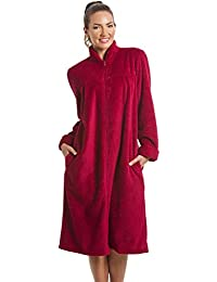 8ecca1874c Camille Womens Zip or Button Front Dressing Gown House Coat