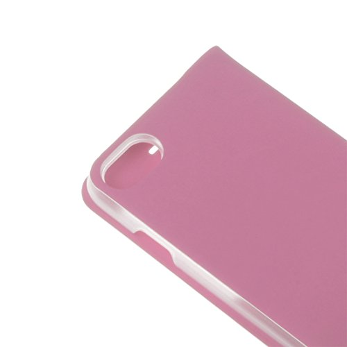 IPhone 7 Fall Plain Weave Texture Horizontale Flip Leder Tasche mit Call Display ID für iPhone 7 by diebelleu ( Color : Gold ) Pink