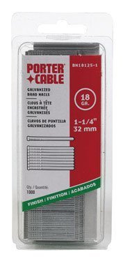 PORTER-CABLE BN18125-1 1-1/4-Inch 18 Gauge Brad Nail (1000 per Box) by PORTER-CABLE (English Manual)