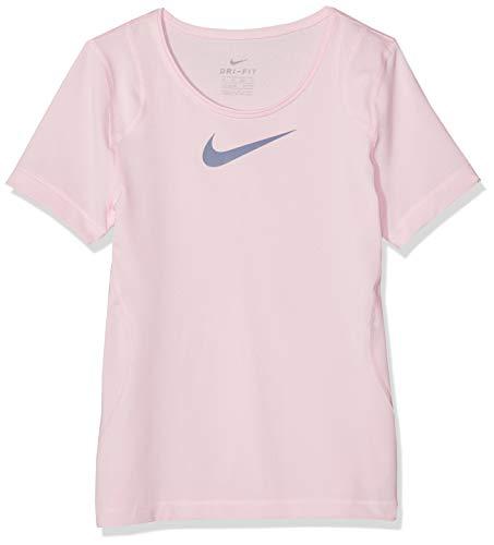 Nike Mädchen G NP TOP SS T-Shirt, Pink Foam/Ashen Sl, XS - Mädchen Damen Bekleidung