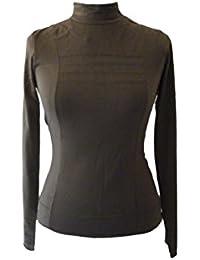 Coline - Tee-shirt sous pull uni manches longues col cheminée