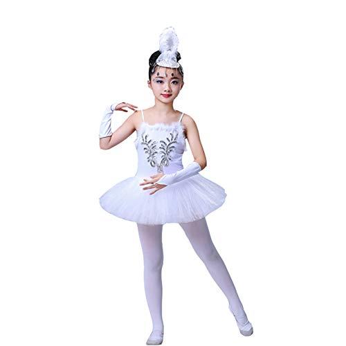 Kostüm Swan Kind White - YOUYE Professionelle White Swan Lake Ballettröckchen Kostüm Mädchen Kinder Ballerina Kleid Kinder Ballett Kleid Dancewear Tanzkleid Für Mädchen,150cm