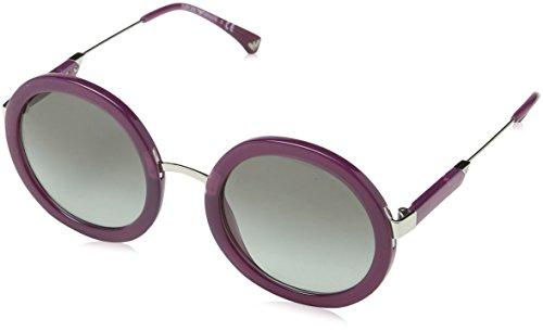 EMPORIO ARMANI Women's 0EA4106 561111 Sunglasses, Opal Violet/Gradient, 51