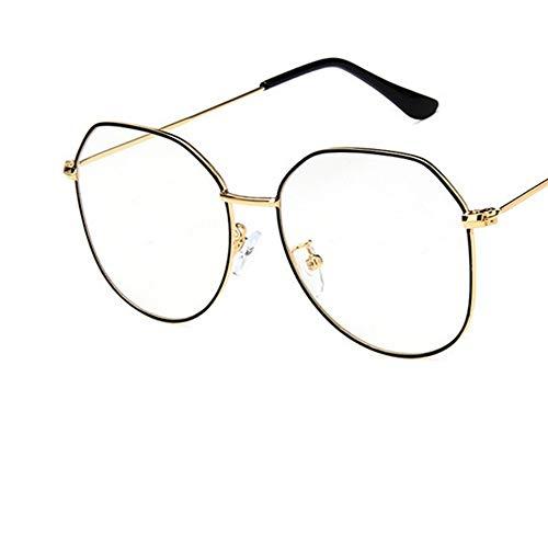 Sonnenbrille Big Gestell Schwarz Golden Frauen Brillengestell Aus Metall Brillen Vintage Klare Optische Gläser Fake Gläser