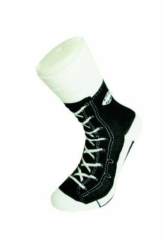 Preisvergleich Produktbild Sneaker Socken schwarz - Silly Socks im Sneakers Turnschuhe Stil