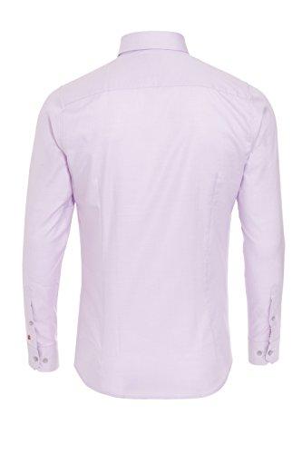 Pure - Chemise casual - Col Chemise Classique - Manches Longues - Homme Uni Rosa