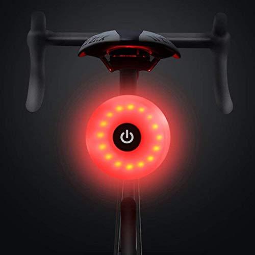 WASAGA Luz Trasera de Bicicleta, LED USB Recargable, Impermeable, Advertencia, 5 Modos, luz Trasera (Rojo)