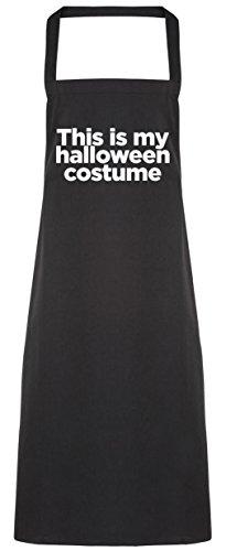 hippowarehouse This is my Halloween-Kostüm Schürze Küche Kochen Malerei DIY Einheitsgröße Erwachsene, schwarz, Einheitsgröße