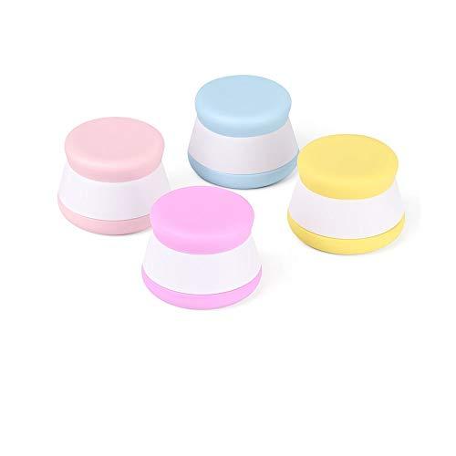 iKiKin Silikon Reise Kosmetik Behälter-Sahneglas-Set mit hart versiegelten Deckel, 20ml dicht Reise Gläser für Hand Körpercreme, Leistung, Flüssigkeit (4 Farbstücke) -