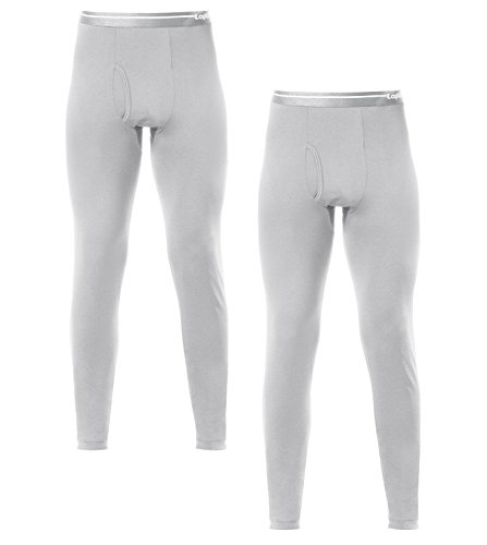 LAPASA Pack de 2 Pantalones Interiores Térmicos para Hombre (XL, Heather Gris)