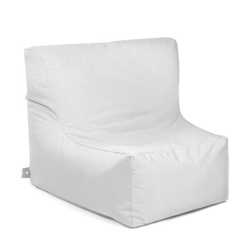 OUTBAG 'Piece' Outdoor-Sessel, Sitzsack, deluxe, weiß - Deluxe Sitzsack