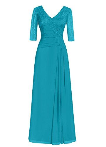 Dresstells, A-ligne robe longue de mère de mariée, robe de soirée formelle, robe de demoiselle d'honneur Blanc