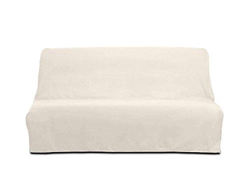 Soleil d'ocre Funda sofá-Cama de algodón Panama Crudo