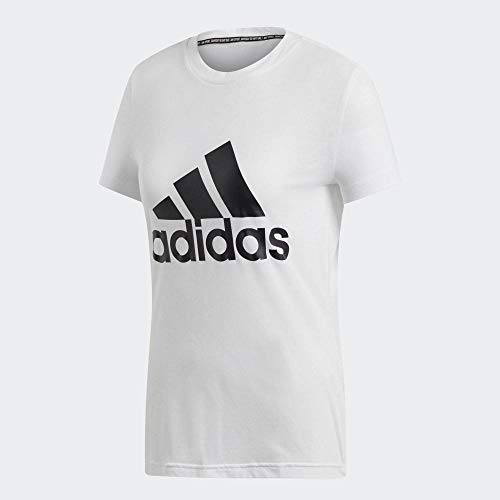 Adidas must haves badge of sport tee, t-shirts donna, white, m/44-46
