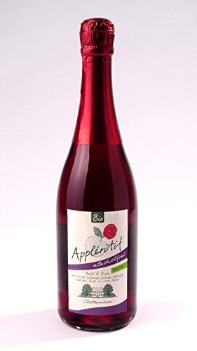 BIO-Applritif-Apfel-Rose-mit-ARONIA-feinherb-ALKOHOLFREI-Obsthof-Clostermann-Neuhollandshof-Niederrhein-750-ml