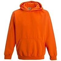 Just Hoods-Felpa con cappuccio per bambini, colore: arancione elettrico