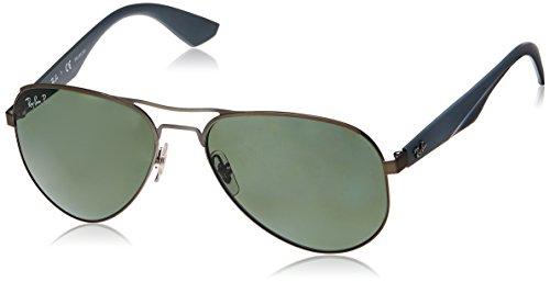 Ray Ban Unisex Sonnenbrille RB3523, Mehrfarbig (Gestell: Gunmetal-matt, Gläser: grün polarisiert 029/9A), Large (Herstellergröße: 59)
