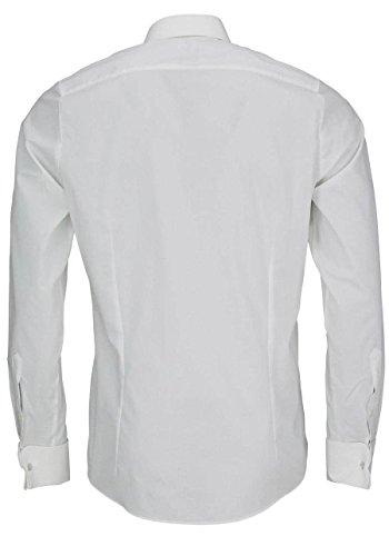 OLYMP Level Five body fit Galahemd Langarm Popeline Beige