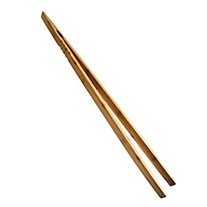 Grillzange XXL I 76cm Bambus Holzzange extra lang I perfekt am Grill oder als Geschenk-Idee