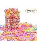 LABOTA 2000 pièces Multicolore Attache Cheveux,Mini Bandes en Caoutchouc Élastique pour les Bébés Filles