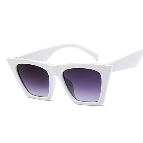 Sport-Sonnenbrillen, Vintage Sonnenbrillen, Female Vintage Sunglasses Women/Men Fashion Cat Eye Luxury Sun Glasses Classic Shopping Lady Black Oculos De Sol UV400 White