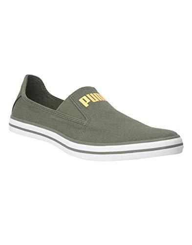 Puma Men's Slyde Slip on Knit MU IDP Olive Sneakers-9 UK (43 EU) (10 US) (37190003_a)