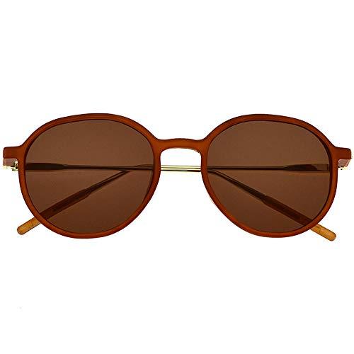 fuqiuwei Sonnenbrillen Retro- Polarisiertes Rundes Gesicht Der Braunen Sonnenbrille des Runden Rahmens des Weiblichen Gesichtes