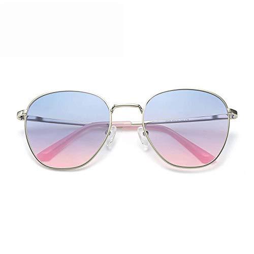 Kanqingqing UV-Sonnenbrille Wayfarer Large Metal Non-Mirrored Polarized für Männer für Frauengläser (Farbe : Rosa, Größe : Casual Size)