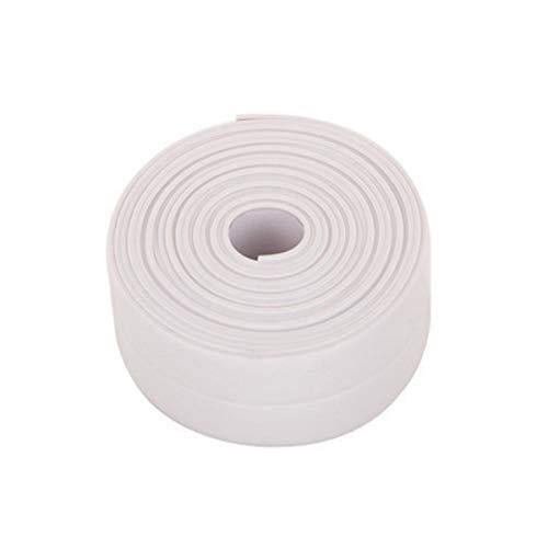Donnagelia sigillante nastro sigillante di striscia pvc autoadesiva e impermeabile e mildewproof preformato per cucina bagno vasca 320cm x 3.8cm, bianco