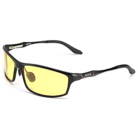 Soxick® Polarized HD Night Driving Glasses Anti-Glare for Day Evening Car Rides - Enclosed in an Elegant Gift Box