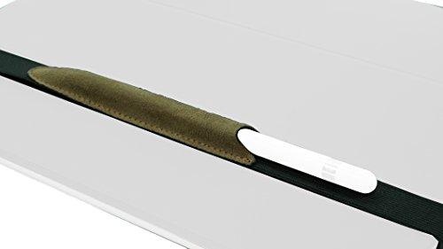 """Preisvergleich Produktbild ALJAVA Stiftehalter für Apple Pencil FRED - Exklusive Stifthülle aus Leder für Apple iPad (9.7"""") und andere Tablets - Vintage Braun"""