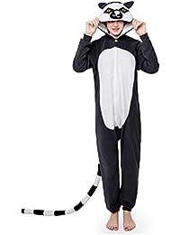 YLOVOW Pijamas para Adultos Unisex Cálido Halloween Y Navidad Cosplay Animales De Vestuario Ropa De Dormir