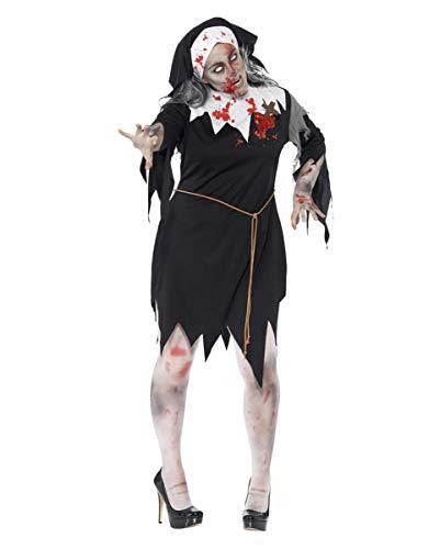 Horror-Shop Zombie Nonnen Kostüm Plus Size