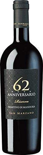 San Marzano - Anniversario 62 Primitivo di Manduria Rotwein halbtrocken Italien 14,5% Vol. - 0,75l