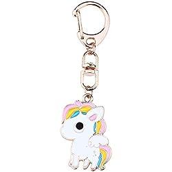 Doitsa Llavero Animal, Unicornio, Metal Moda Kawaii, Bolso Cosmético de la Cartera Equipaje Llavero Infantil