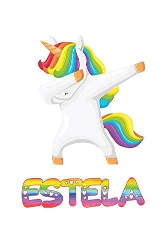 Estela: Estela 6x9 Journal Notebook Dabbing Unicorn