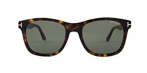 Tom Ford Unisex-Erwachsene FT0595 52N 55 Sonnenbrille, Braun (Avana Scura/Verde),