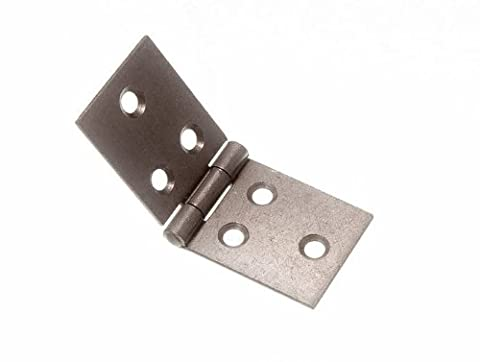 BACKFLAP HINGE SC SELF COLOUR STEEL 30MM X 76MM WITH SCREWS ( 1 pair )