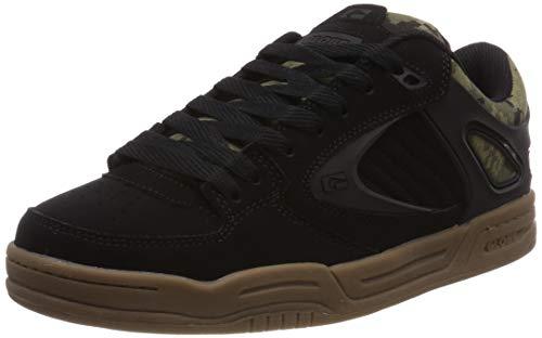 Camo Leder Skate Schuhe (Globe Herren Agent Skateboardschuhe, Mehrfarbig (Black/Camo 000), 45 EU)