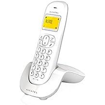 Alcatel ALC31C250B - Teléfono fijo inalámbrico, color blanco