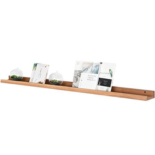 GRY Nordic Massivholztrennwand Regale Schlafzimmer Dekoration Wohnzimmer Tv Hängeregal,100 cm