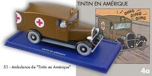 Der Krankenwagen von Chicago. Tim und Struppi in Amerika. ATLAS. # 51. In Auto Tim. Moulinsart. Hergé